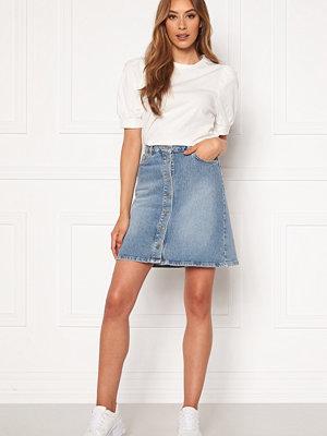 Selected Femme Rose MW Denim Skirt Medium Blue Denim