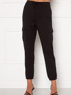 Only svarta byxor Poptrash Life Cargo Belt Pants Black
