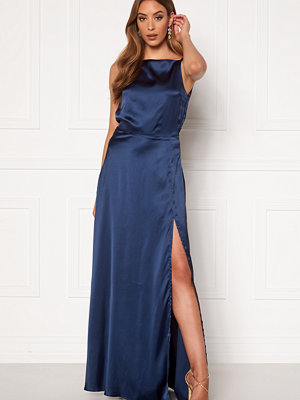 Moments New York Laylani Satin Gown Navy