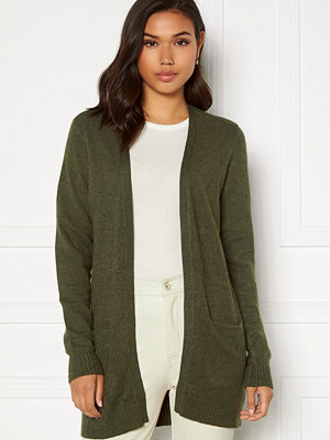 Vila Ril Open Knit Cardigan Forest Night Melange