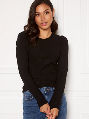 Only Emma L/S Puff Top Black