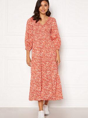 Y.a.s Damask 3/4 Long Dress Wisper Pink, AOP
