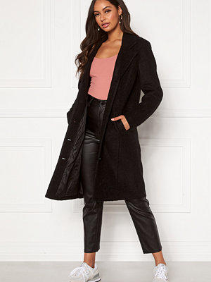 Happy Holly Corinne wool coat Black