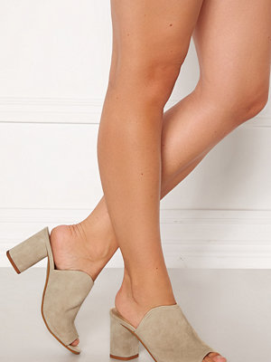 Pieces Anila Suede Mule Warm Sand