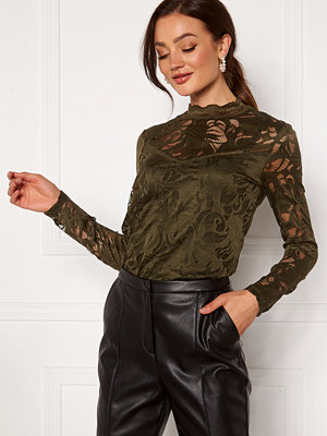 Vila Stasia L/S Lace Top Forest Night