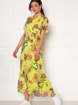 Vero Moda Wonda S/S Wrap Maxi Dress Celandine AOP
