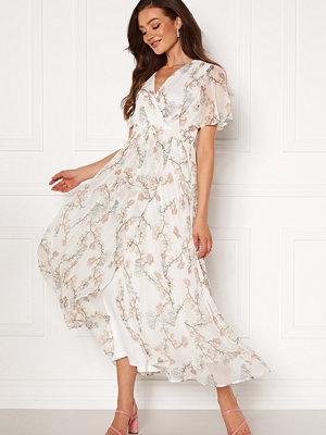 Vero Moda Wonda S/S Wrap Maxi Dress Snow White AOP