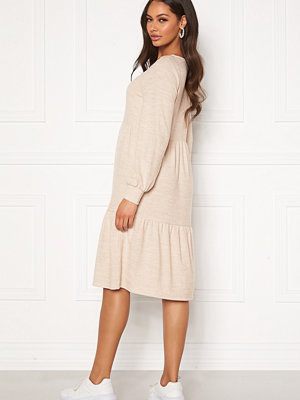 Happy Holly Liz flounce dress Light beige / Melange
