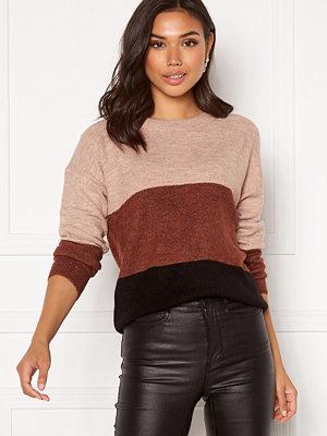 Jacqueline de Yong Elanora L/S Stripe Pullover Black Colorblock
