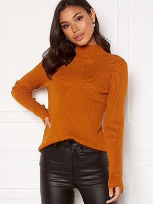 Vila Wenda Rib L/S Knit Top Pumpkin Spice