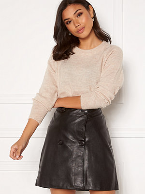 Selected Femme Lulu LS Knit O-Neck Birch Detail:Melange