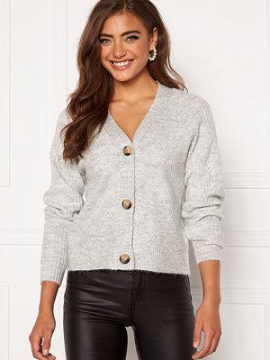 Only Carol L/S Cardigan Knit Light Grey Melange