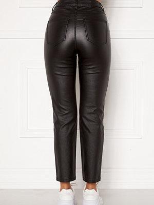 Happy Holly svarta byxor Maja coated pants