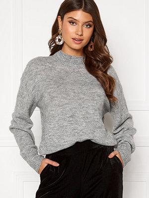 Ichi Amara LS Pullover 200318 Grey Melange