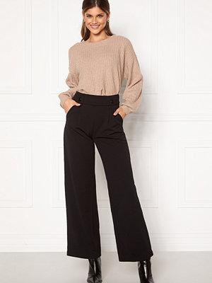 Jacqueline de Yong svarta byxor Geggo New Long Pants Black