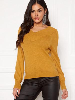 Jacqueline de Yong Shanon L/S Pullover Harvest Gold
