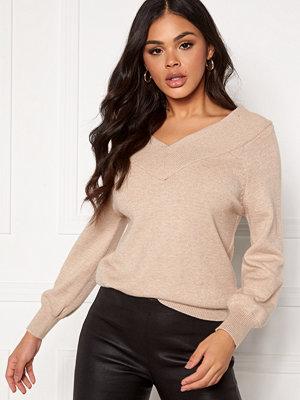 Jacqueline de Yong Shanon L/S Pullover Beige