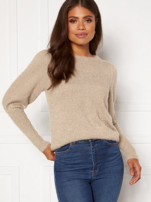 Vila Fenoma Knit Puff Shoulder L/S Top Simply Taupe