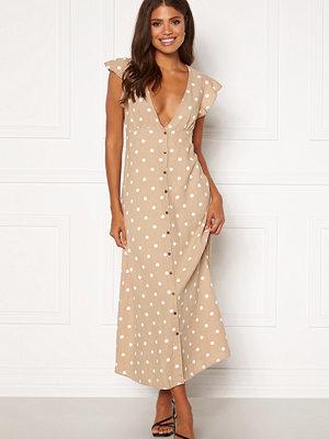 Only Becca Botton Midi Dress Humus