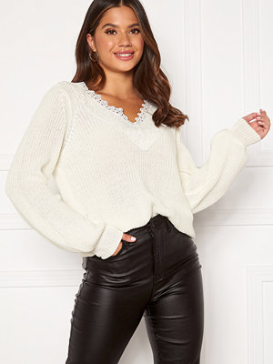 Happy Holly Wendy lace sweater Offwhite