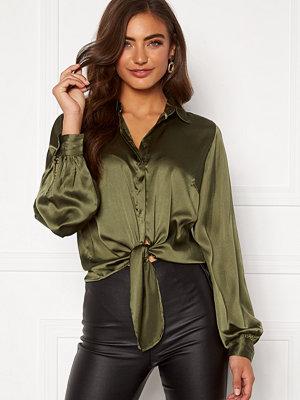 Bubbleroom Zamira puff sleeve shirt Green