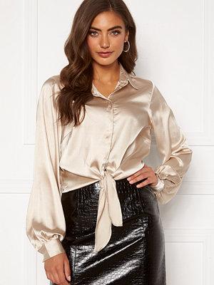 Bubbleroom Zamira puff sleeve shirt Champagne