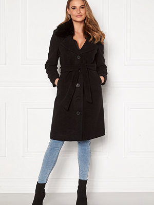 Happy Holly Mariah wool blend coat Black