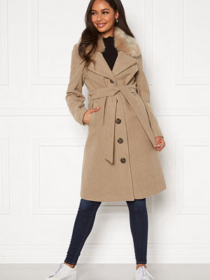 Happy Holly Mariah wool blend coat Beige