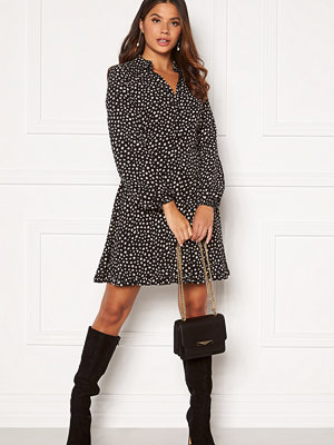 Chiara Forthi Apple shirt frill dress Black / Beige / Dotted