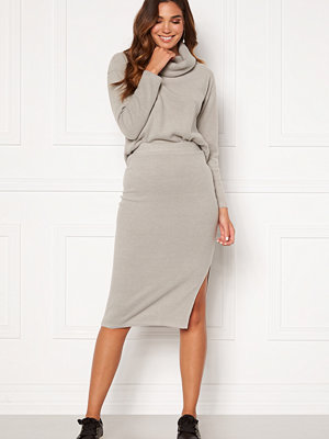 Bubbleroom Nelima knitted skirt Grey