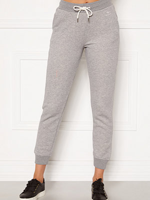 Gant ljusgrå byxor Gant Lock Up Sweat Pants