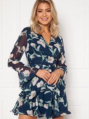 Girl In Mind Kim Bell Sleeve Chiffon Mini Dress