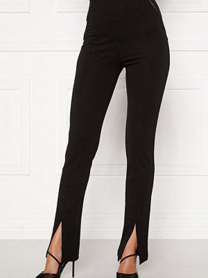Bubbleroom svarta byxor Alba slit trousers Black