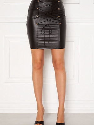 Chiara Forthi Cardi lace up skirt Black