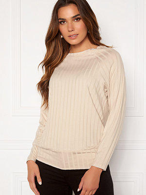 Happy Holly Thea cuff top Light beige