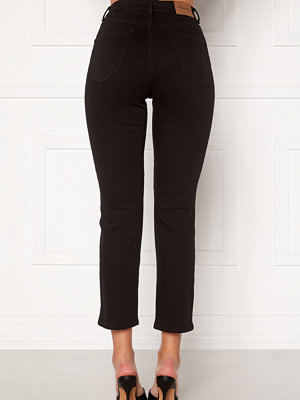 Happy Holly Peggy straight leg jeans Black denim