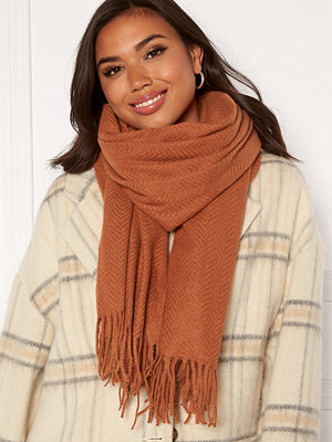 Pieces Kial New Long Scarf Mocha Bisque