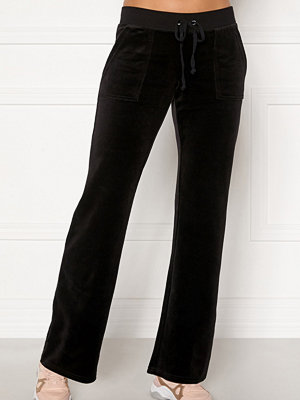 Juicy Couture svarta byxor Del Ray Classic Velour Pant
