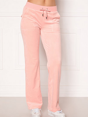 Juicy Couture persikofärgade byxor Del Ray Classic Velour Pant Pale Pink