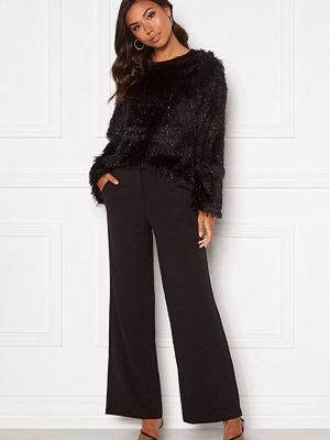 Jacqueline de Yong svarta randiga byxor Giselle Wide Pants Black