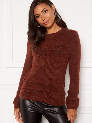 Jacqueline de Yong Nataline Pullover Knit Cherry Mahogany