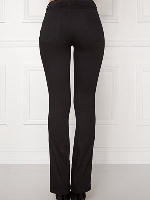 Happy Holly Elwira bootcut jeggings Black denim