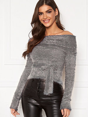 Chiara Forthi Beatricia furry offshoulder sweater