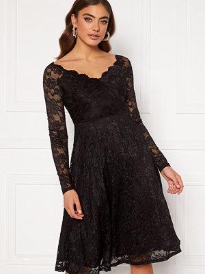 Goddiva Long Sleeve Lace Midi Dress