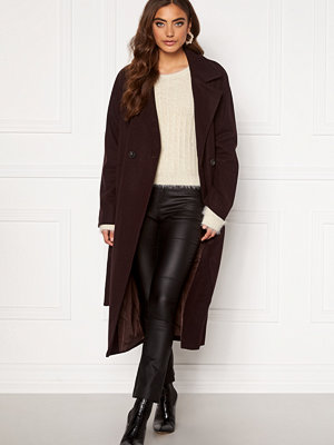 Vero Moda Merlemay Long Jacket Chocolate Plum