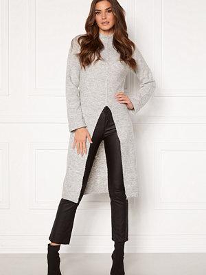 Vero Moda Gaiva LS Funnelneck Slit Dress Light Grey Melange