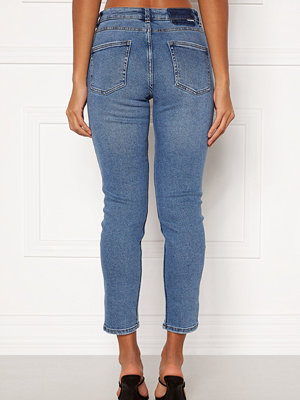 Only Erica Life Mid ST Ankle Jeans Light Blue Denim
