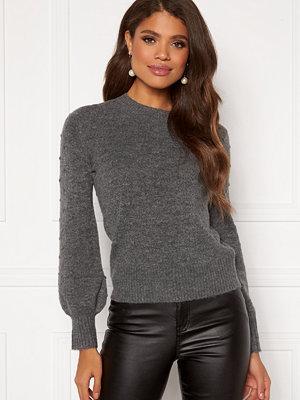 Happy Holly Edith knitted sweater Dark grey / Melange