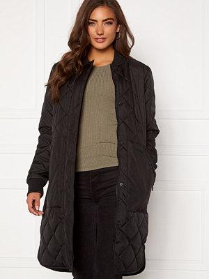 Selected Femme Natalia Quilted Coat Black