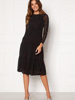 Happy Holly Emilia Glitter flounce dress Black / Silver